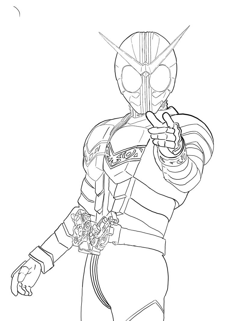 Kamen Rider W Coloring Page By Aimanyazam On Deviantart