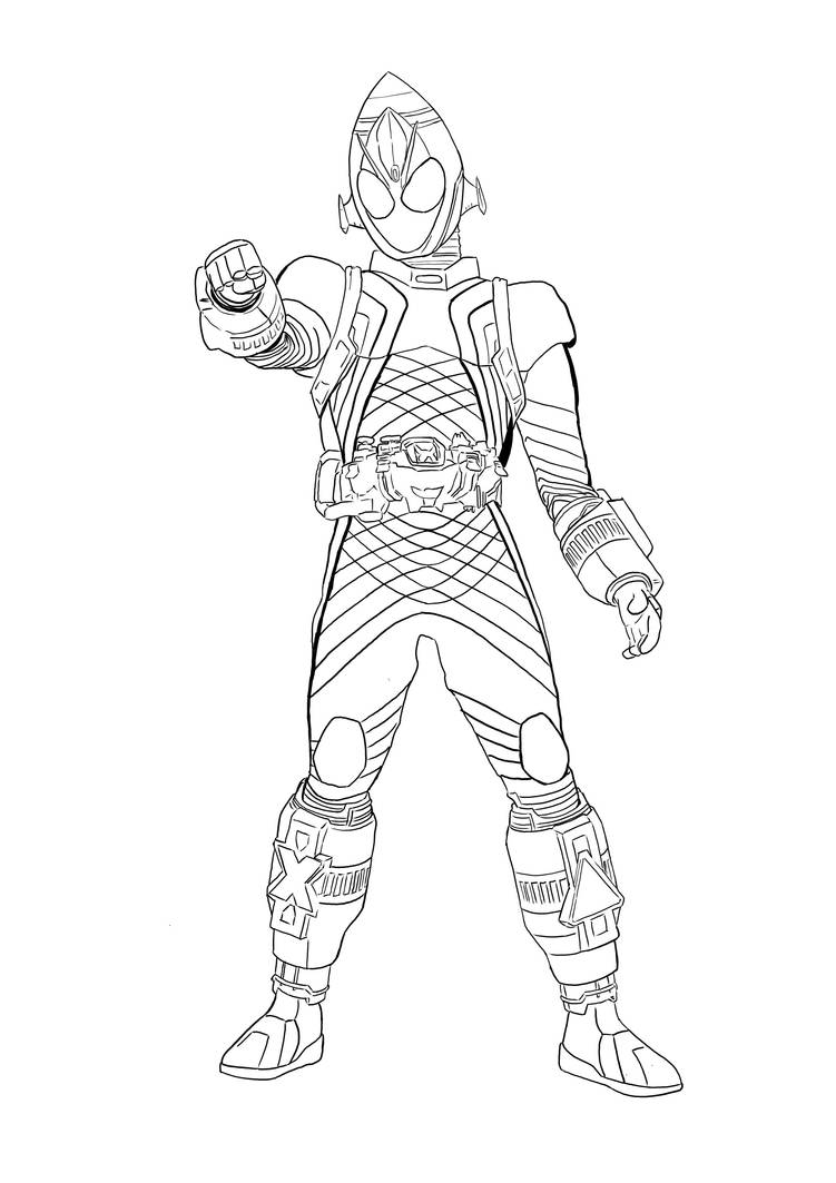 Kamen Rider Fourze coloring page by aimanyazam on DeviantArt