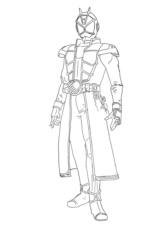 Kamen Rider Wizard Coloring Page By Aimanyazam On Deviantart