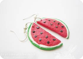 watermelon slices =) by tea-time-alchemist