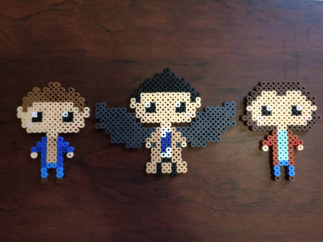 Supernatural Sam, Dean, and Cas Perler