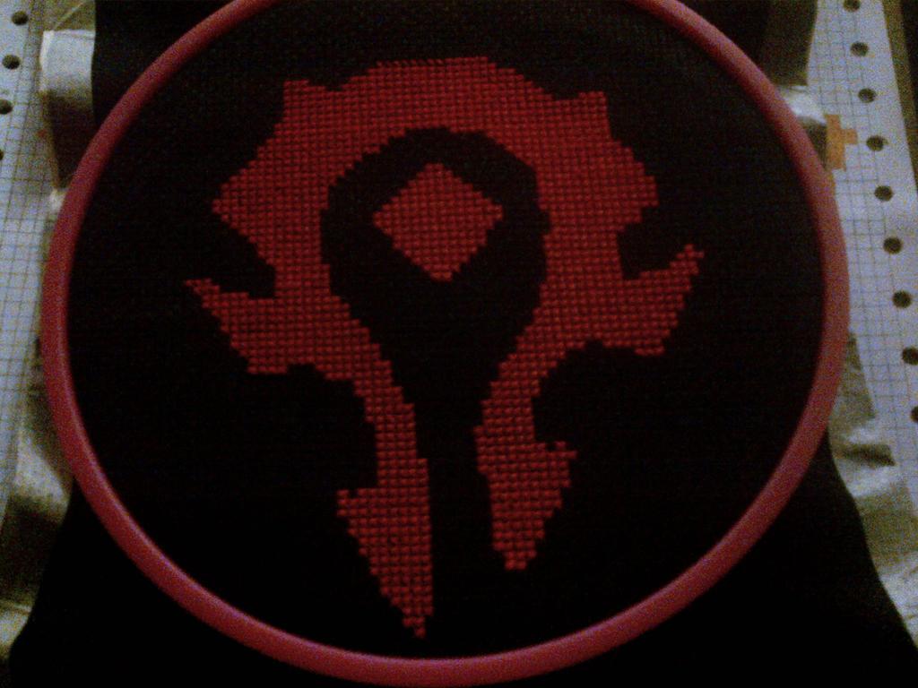 World Of Warcraft Horde Symbol Cross Stitch By Chandrakantaavani On