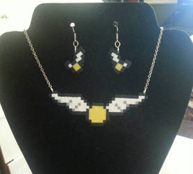 Golden Snitch necklace and earring set