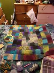 10 stitch blanket WIP