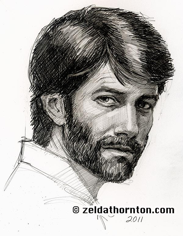 Beard Man Drawing Bearded Man 1 hr Speed Drawing