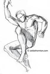 Figure study from imagination by zeldat