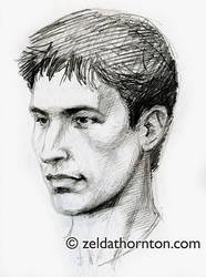 Young man sketch from life