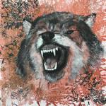Mixed Media Wolf