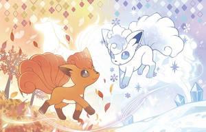 Vulpix Crystal Season by SirensFantasy
