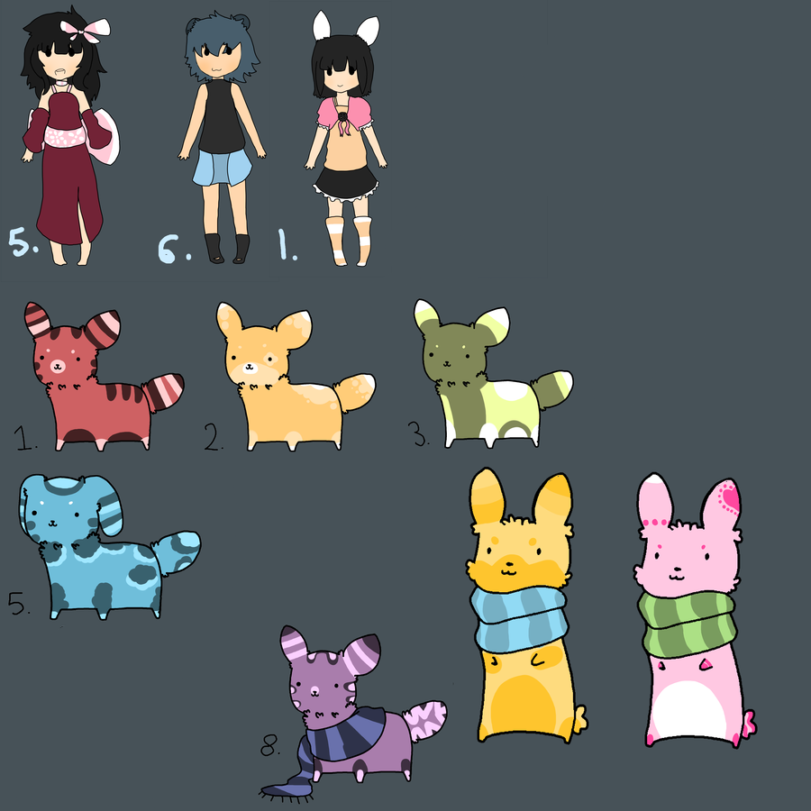 Left Over Adopts 2 by AdoptableKim