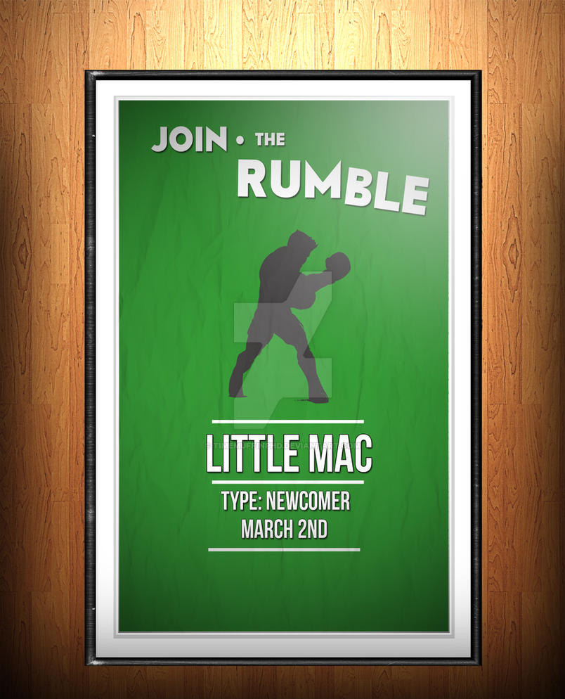 Poster design on mac - Super Smash Bros Poster Design 2 Little Mac C By Timemuffinphd
