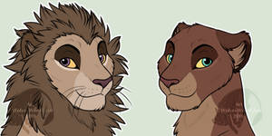 Lion + Lioness HS Bases by WolvesWoodGlenAdopts