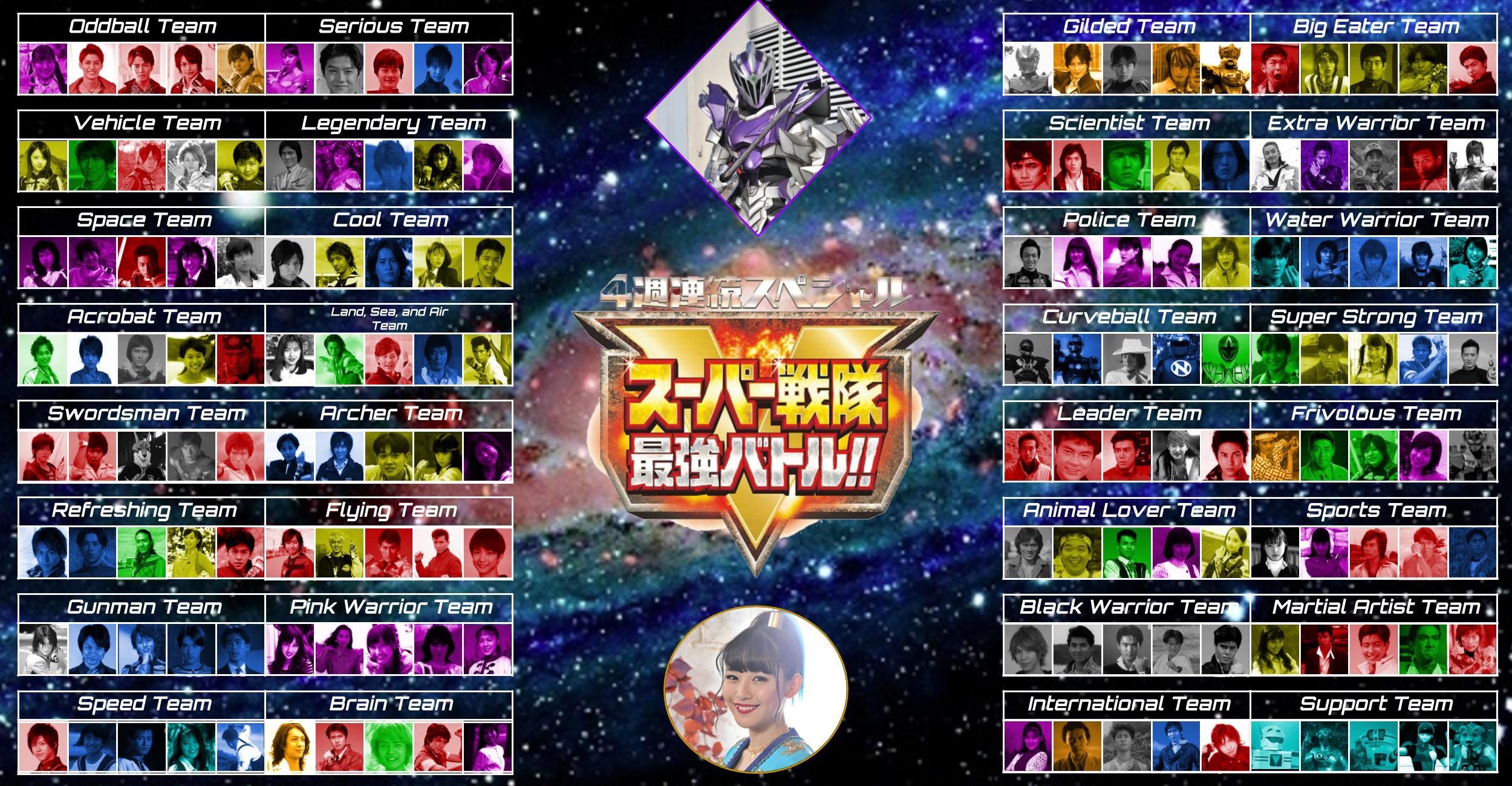 Super Sentai Saikyo Battle (All 32 teams)