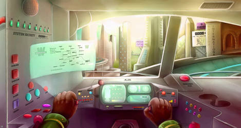 The Raze City skyline (Train driver perspective) by SkyaWaffle
