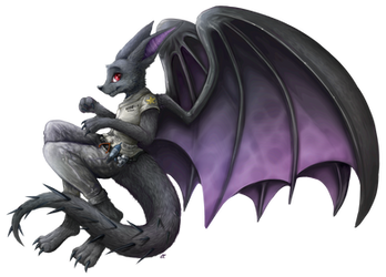Taliaka the bloodthirsty Spherix Dragon by SkyaWaffle