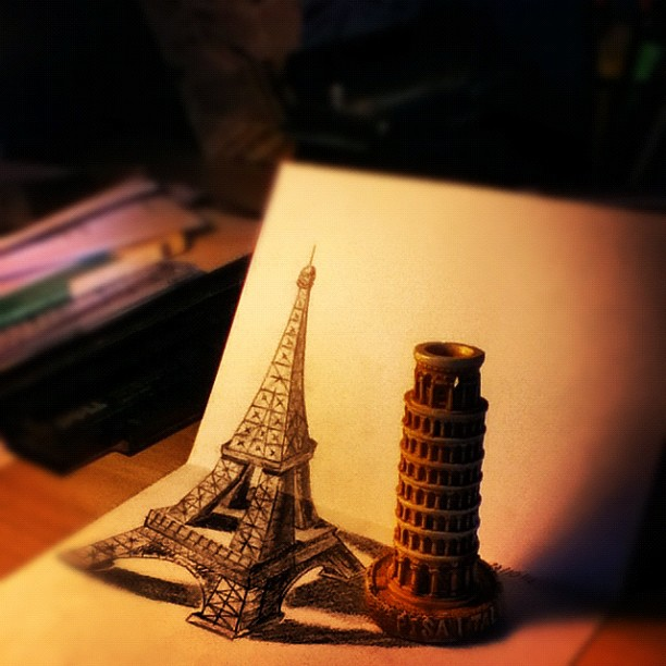 EIFFEL TOWER 3D DRAWING by lucasnetto
