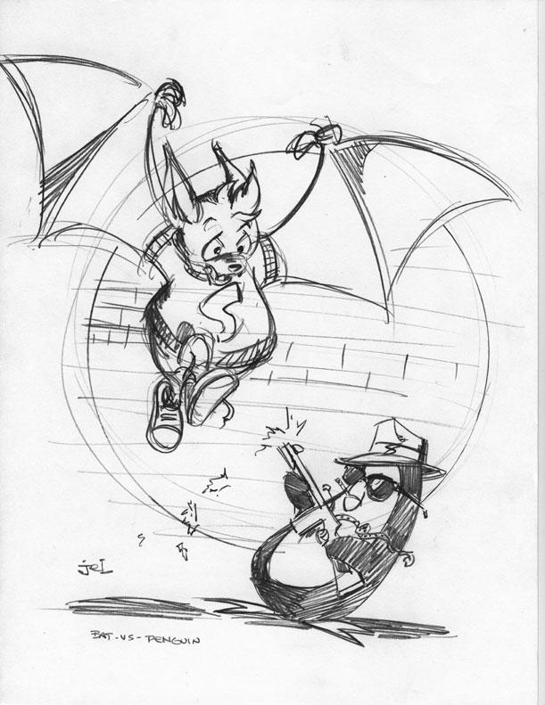 batvspenguin by DoodleLyle