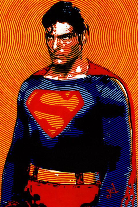 Chris Reeve Superman (with X-Ray vision) by DoodleLyle