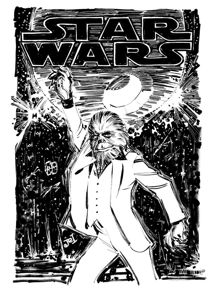 Saturday Night Wookie (Or Wookie Nights) by DoodleLyle