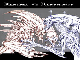 Xentinel vs Xenomorph by drskytower