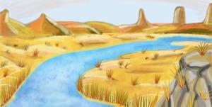 River Desert Scene by drskytower
