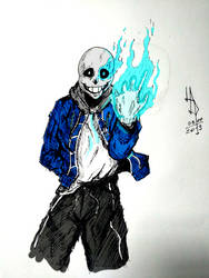 Bad Time Sans Colored