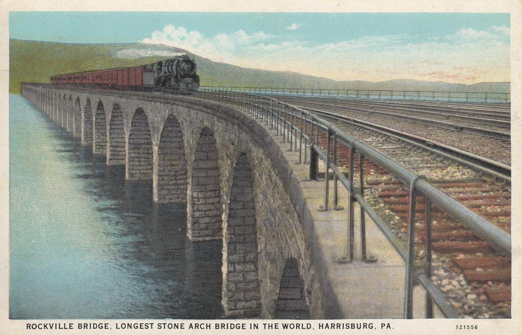 P.R.R. Rockville Bridge Postcard by PRR8157