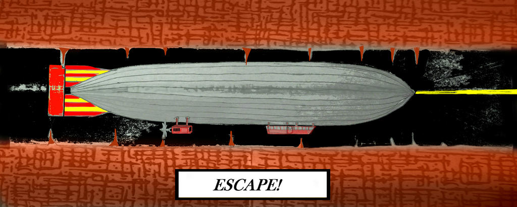 Escape By Underground Airship by PRR8157
