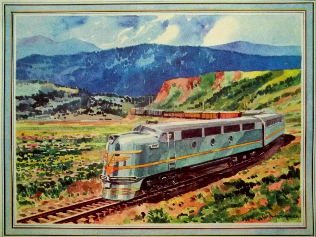 Otto Kuhler Railroad Art - Diesel Streamliner by PRR8157
