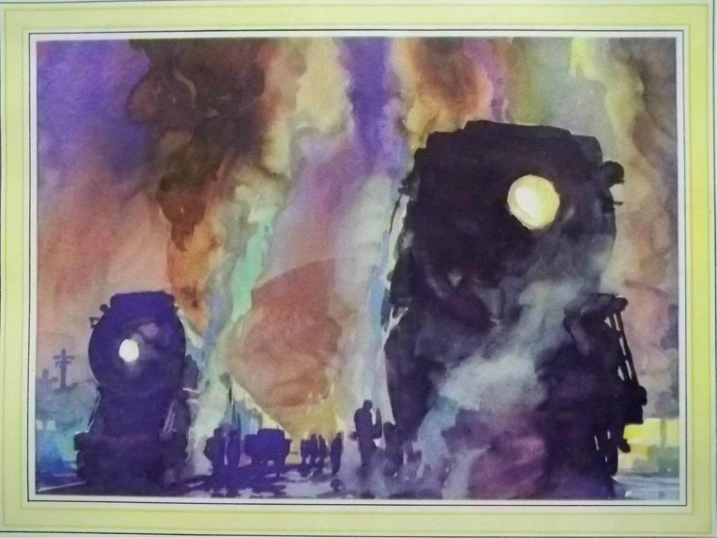 Otto Kuhler Railroad Art - Ready To Go by PRR8157