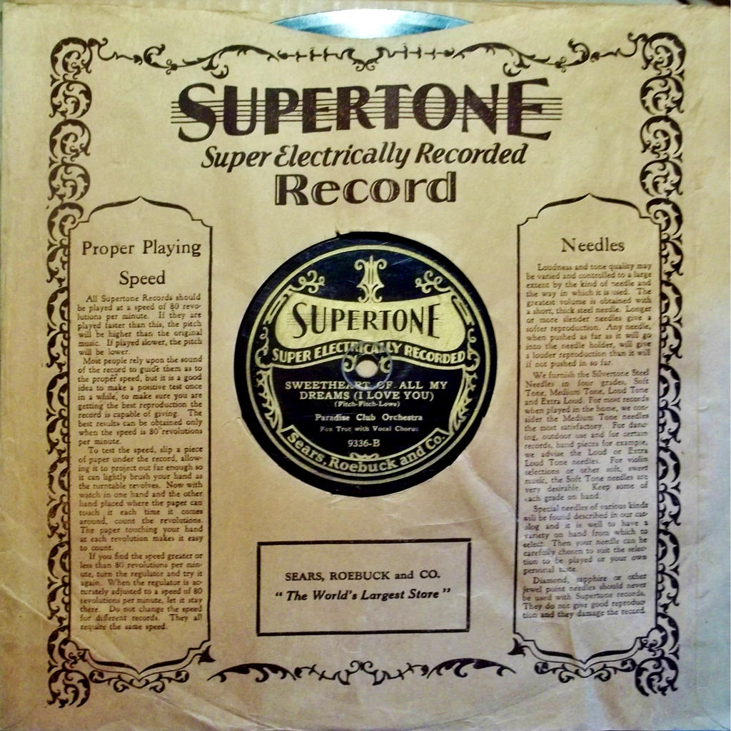 Supertone with Sleeve, B Side by PRR8157