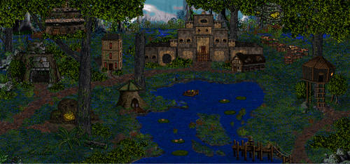 Swampy Fortress Townscreen by Melindar