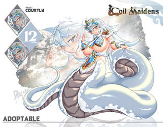 [CLOSED] Adoptable 12 Snow Coil Elsie by PsychoWolFFy