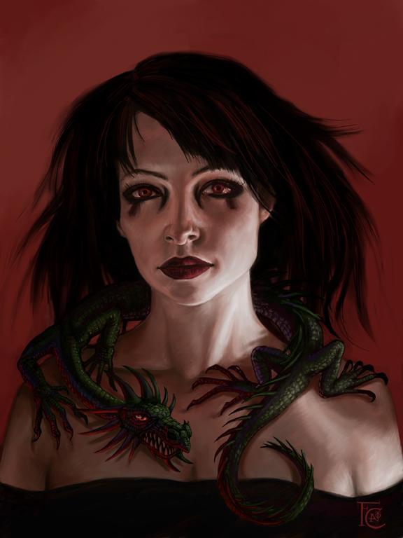 Dragonlady by feliciacano