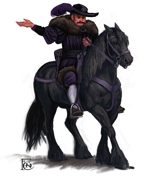 Merchant on a Horse sketch by feliciacano