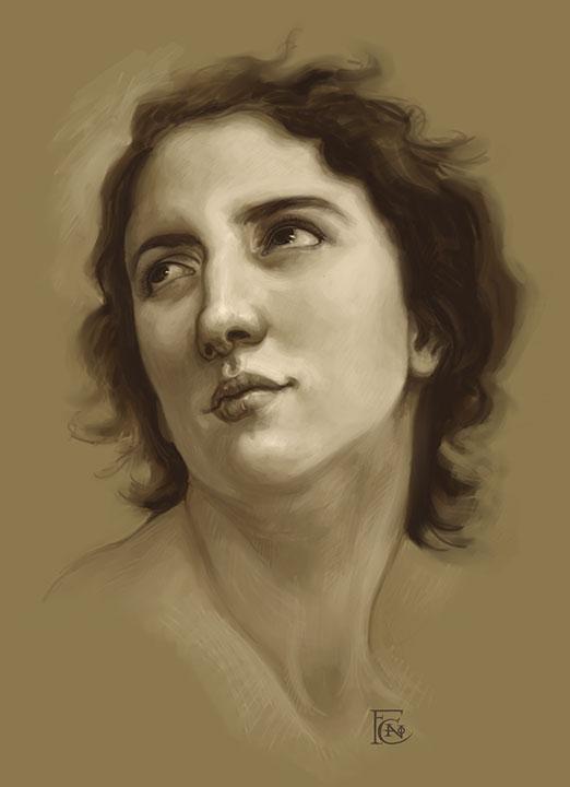 Bouguereau Study by feliciacano