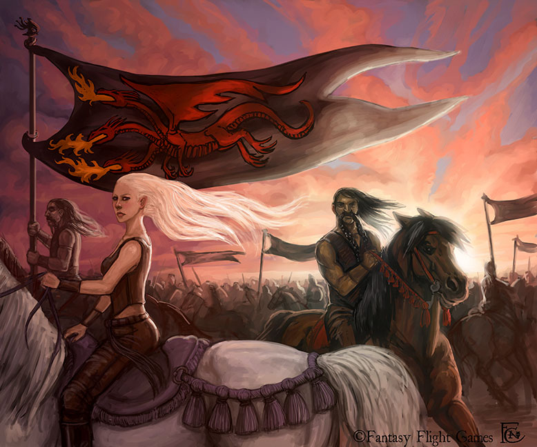 Queen Daenerys' Horde by feliciacano