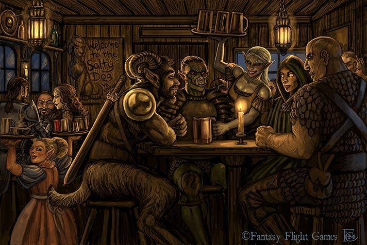 L'Araignée Khajiit, légende urbaine Tavern_for_descent_by_feliciacano