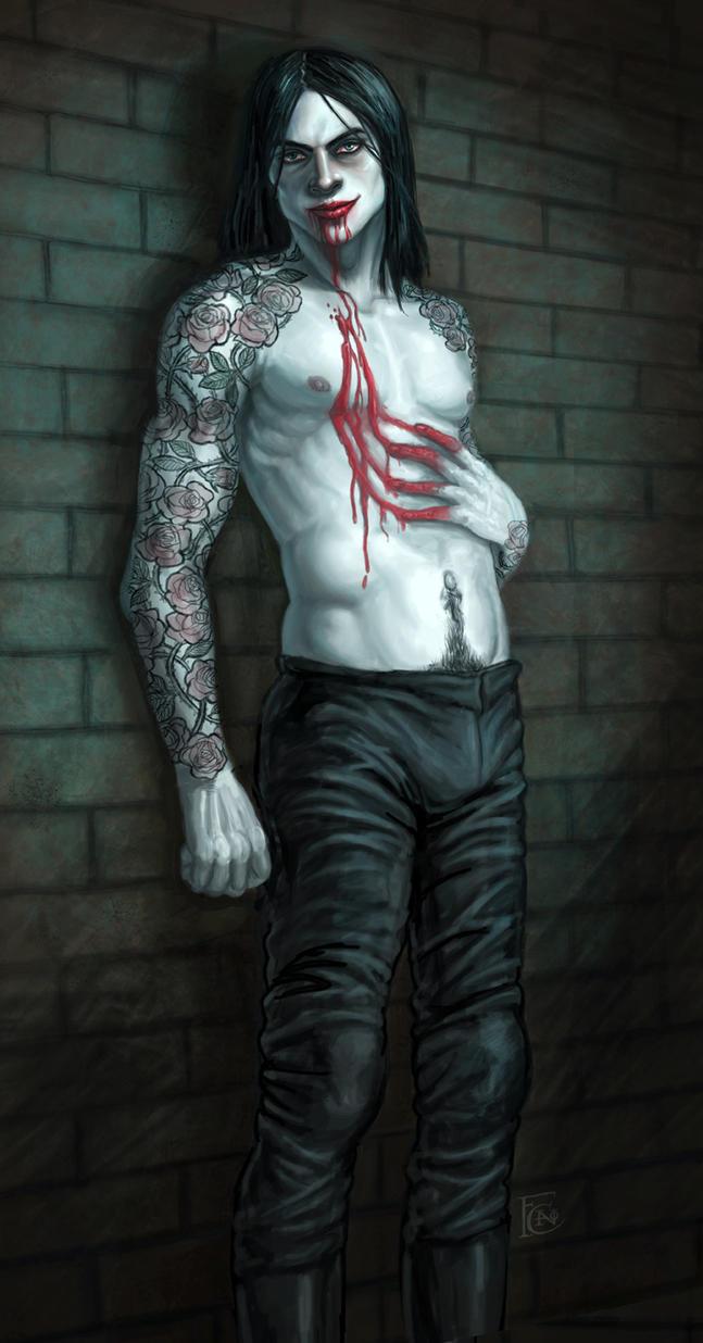 Vampire Pinup by feliciacano