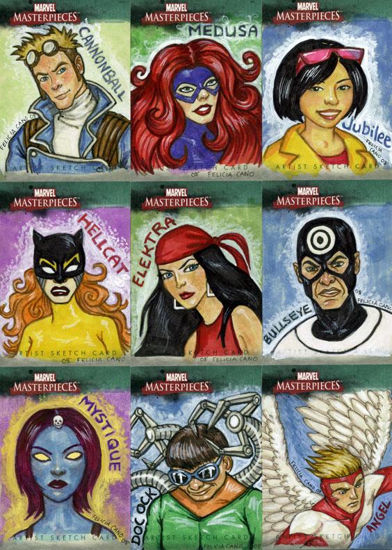 Marvel Sketch Cards-1 by feliciacano