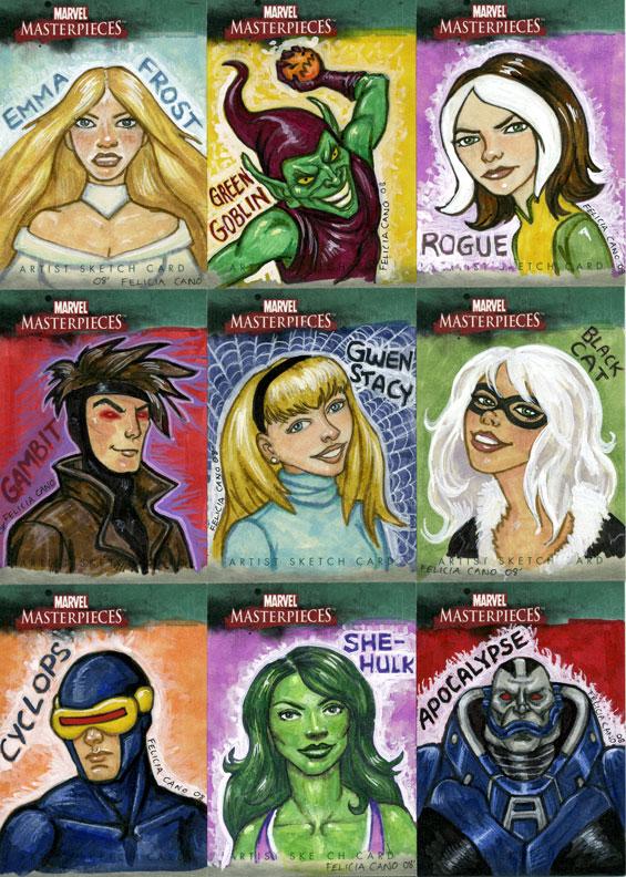 Marvel Sketch Cards-2 by feliciacano