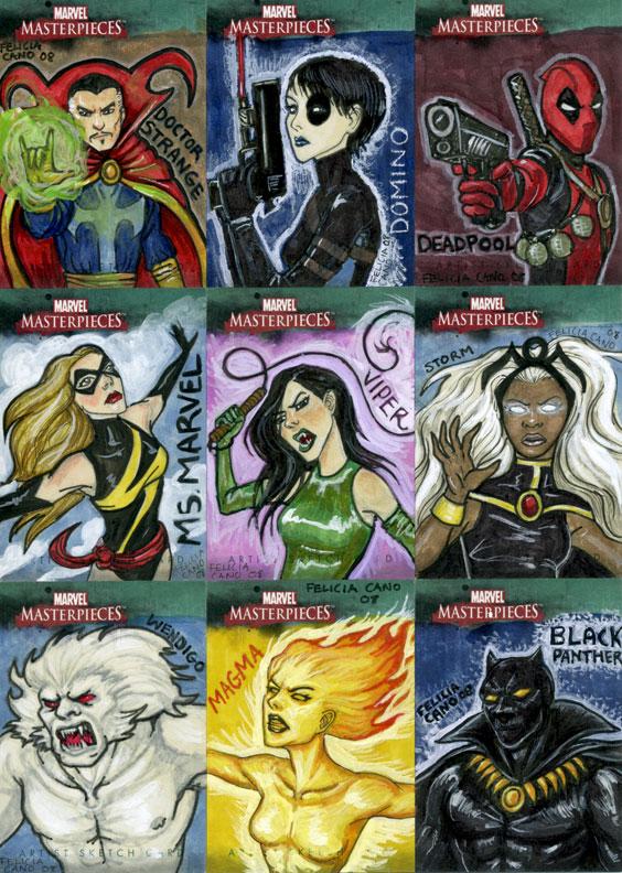 Marvel Sketch Cards-3 by feliciacano
