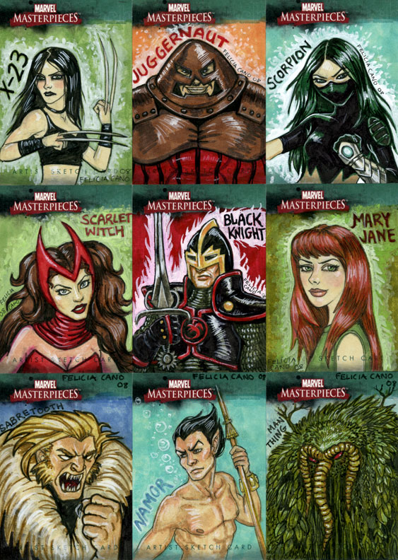 Marvel Sketch Cards-4 by feliciacano