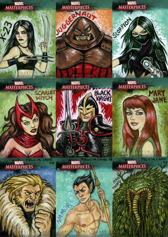 Marvel Sketch Cards-4 by feliciacano