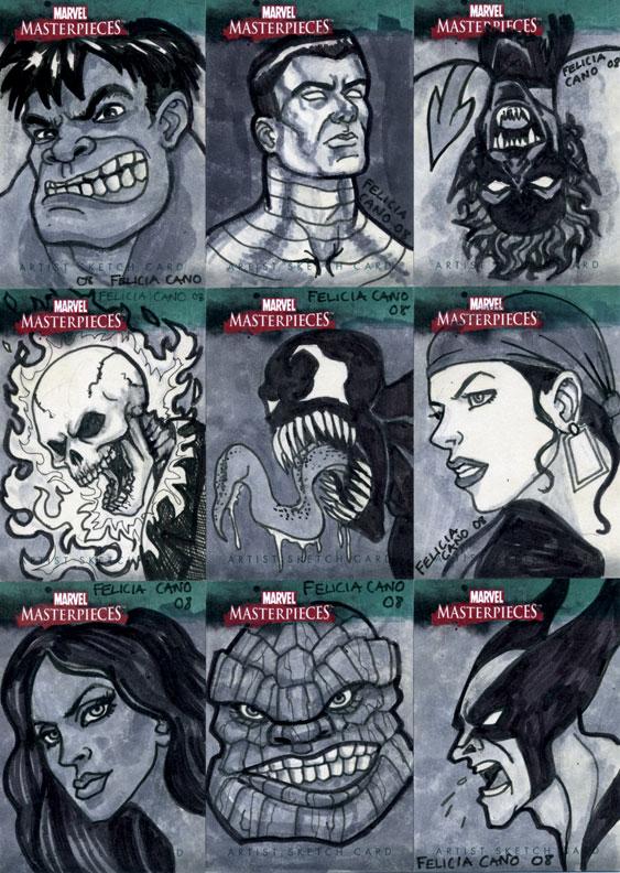 Marvel Sketch Cards-6 by feliciacano