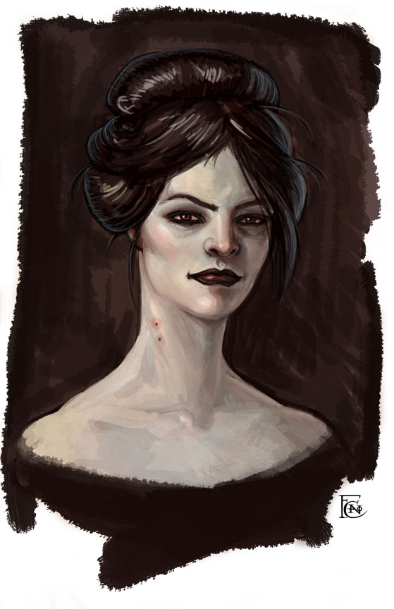 Another Vampire Sketch by feliciacano