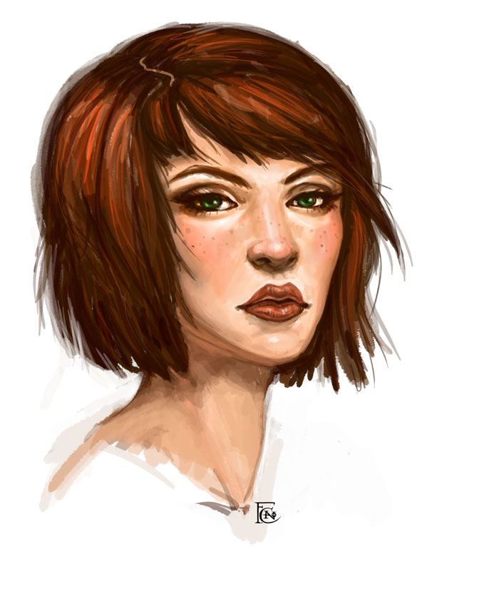 Redhead Sketch by feliciacano