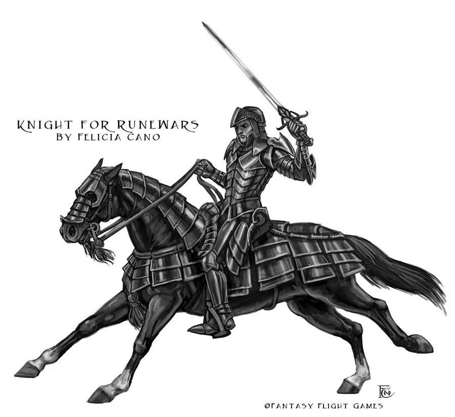 Knight for RuneWars by feliciacano