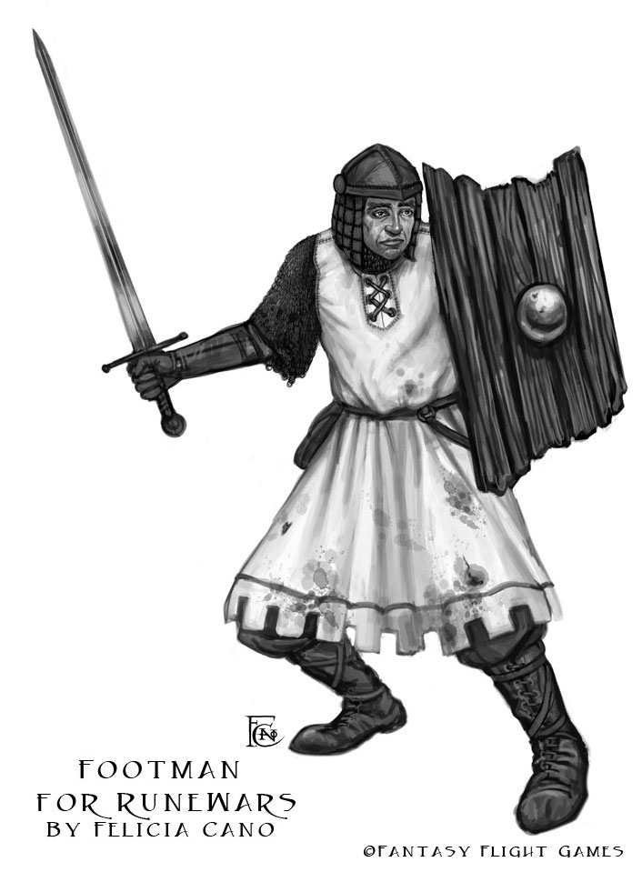Footman for RuneWars by feliciacano