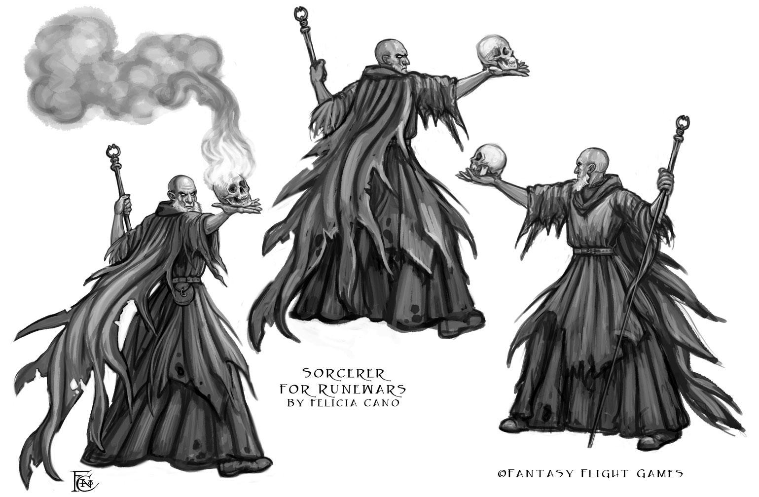 Sorcerer for RuneWars by feliciacano